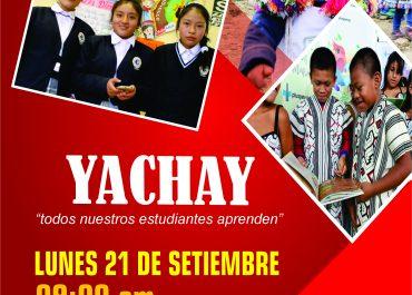 """La Dirección Regional de Educación Cusco, este lunes lanza Proyecto Yachay """"Todos Nuestros Estudiantes Aprenden""""."""