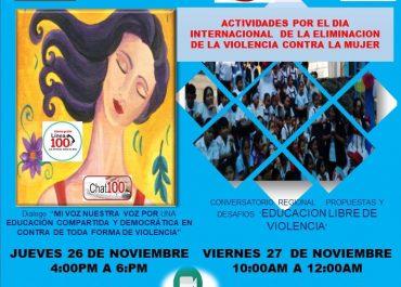 Invitacion a las Actividades Programadas – Intervención Educativa contra la Violencia hacia la Mujer e Integrantes del Grupo Familiar.