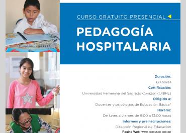 Selección y Ejecución del Curso Presencial en Pedagogía Hospitalaria.